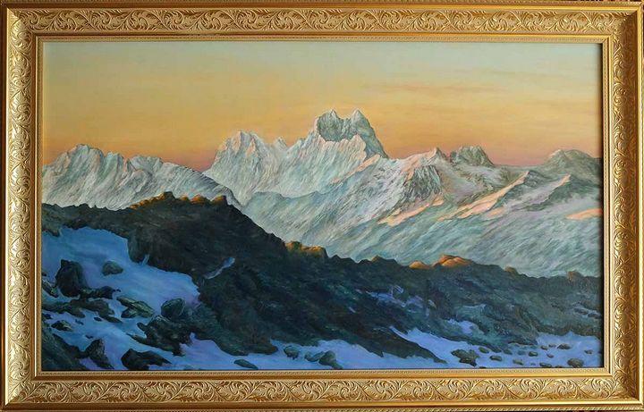 Caucasus, Ushba peak - sunrise - UNIKAT
