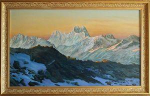 Caucasus, Ushba peak - sunrise