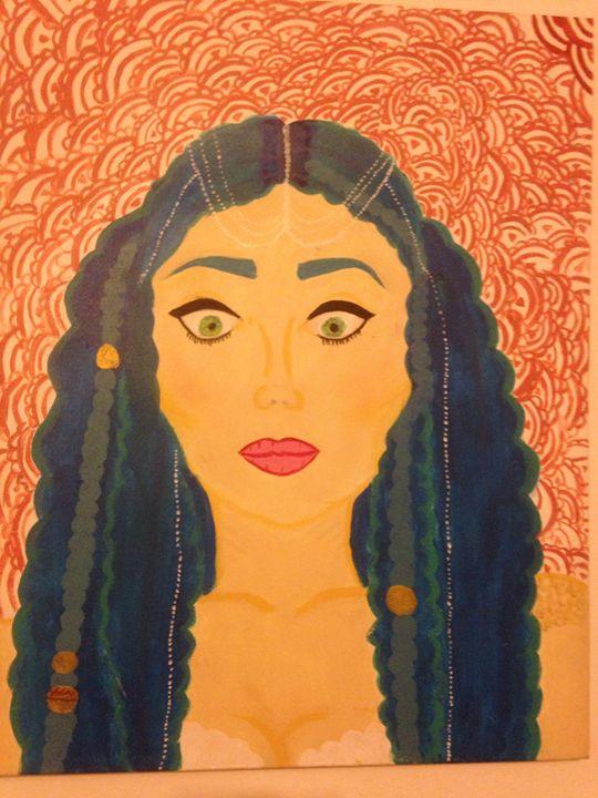 Blue haired mermaid - Nidiapapano