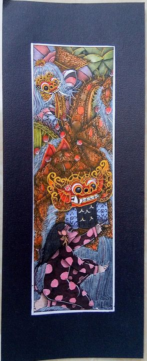 Balinese artwork with ink & acrylics - Soul Of Ink