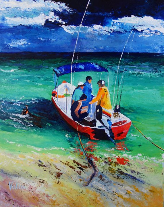 Just Fishin' - ART BY VALIA