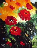Palette knife oil on canvas