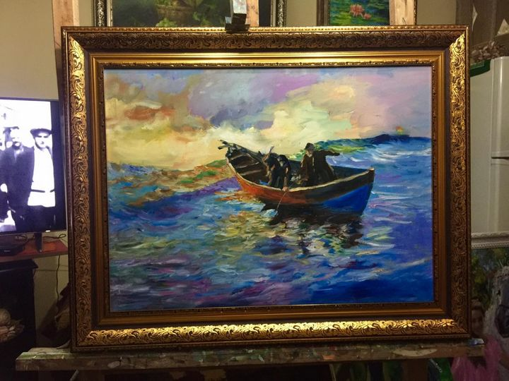 Fisherman - Paintings Gallery - Albania