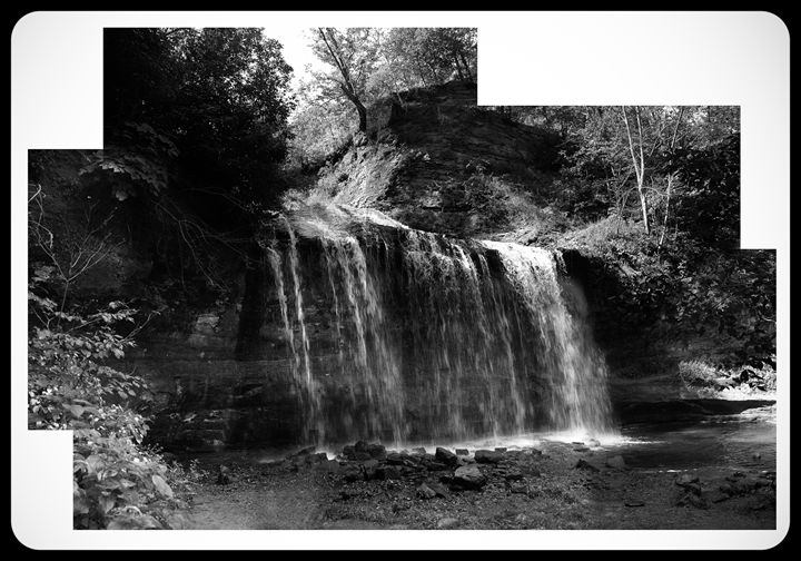 Cascade Falls, Osceola, WI. B/W - TerraScapes Fine Art and Photography