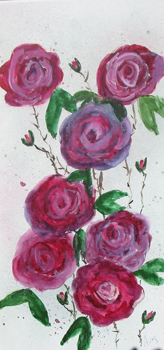 Trailing Roses - Anne's Art Boutique