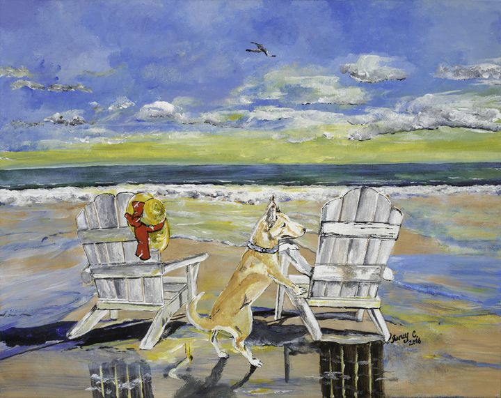 Beach Dog - Nancy Cubbedge