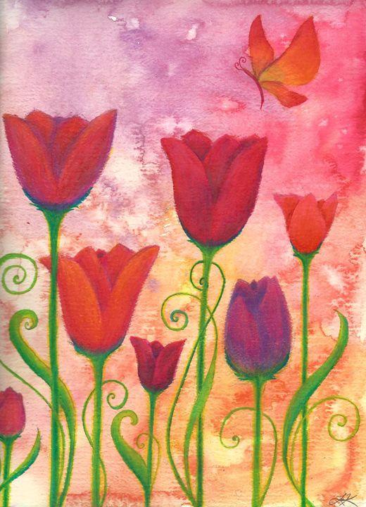 Spring Tulips - Lindsey Raena Art
