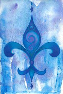 Blue Fleur De Lis