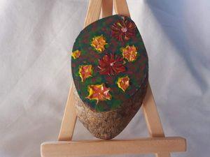 Flowers on a mini wood
