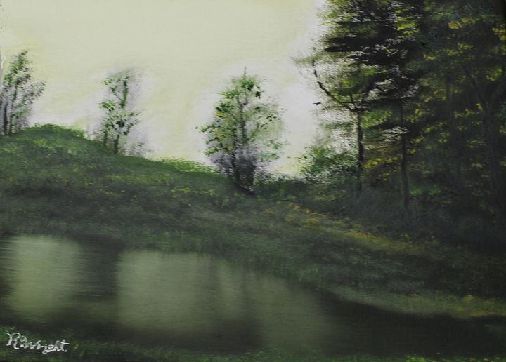 Peaceful Pond - Oil Paintings by R. Wright