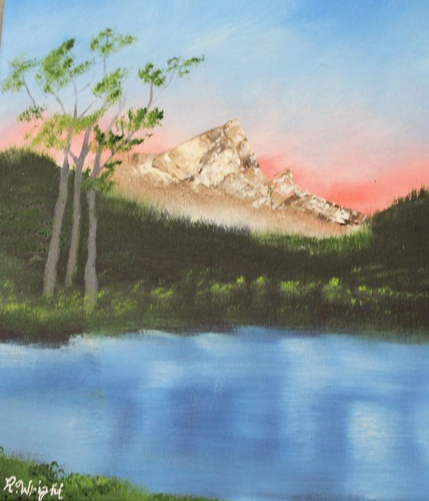 Mountain View - Oil Paintings by R. Wright