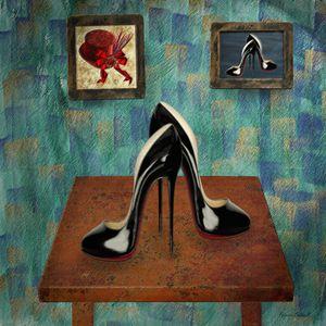 Vintage Stilettos Digital Painting