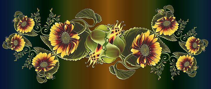 MUG - Sunflower Twirl - tasmanianartist D1g1tal-M00dz