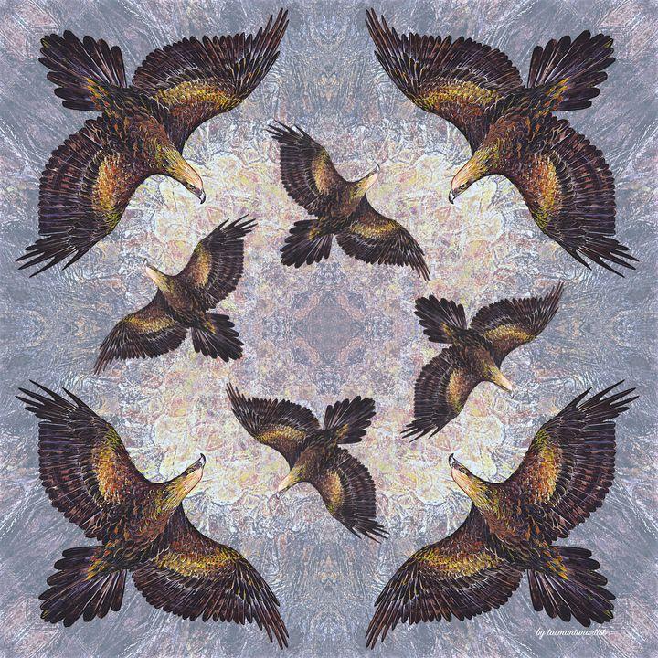 Arrangement with Wedge-tailed Eagle - tasmanianartist D1g1tal-M00dz