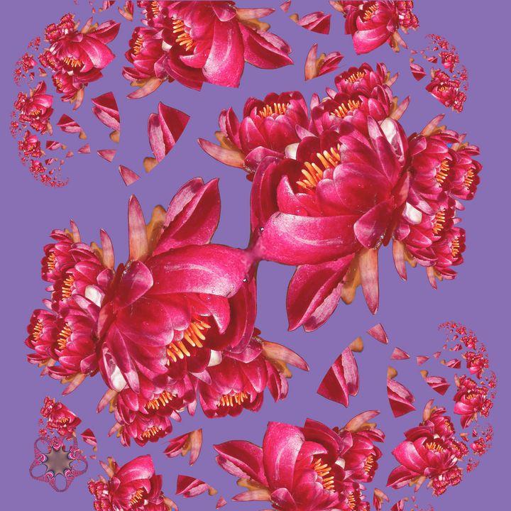 Red Waterlily - tasmanianartist D1g1tal-M00dz