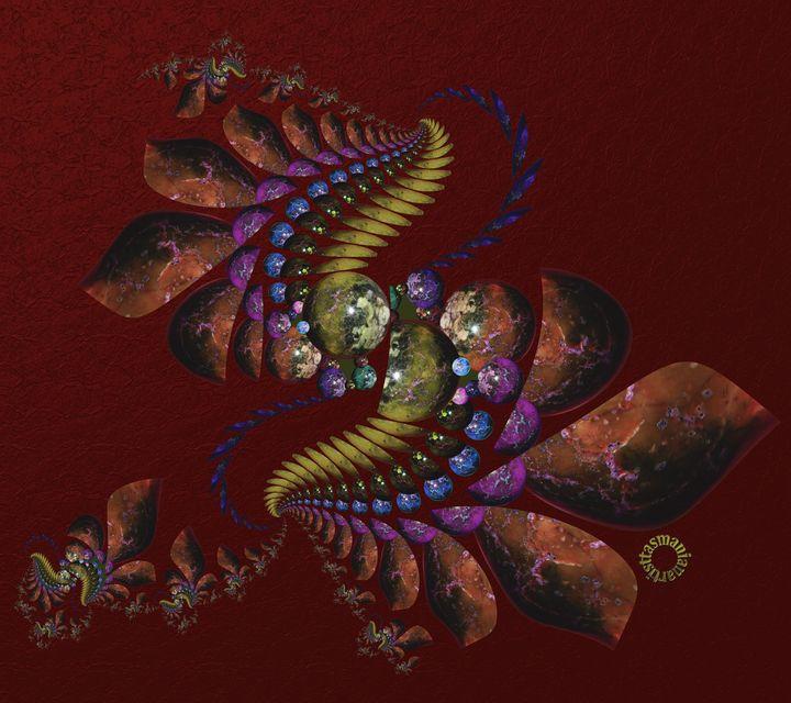 OT Fractal with Spheres - tasmanianartist D1g1tal-M00dz