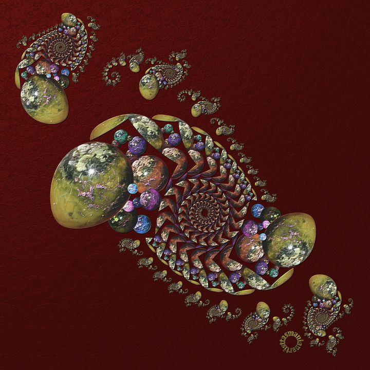 OT Fractal with Spheres 2 - tasmanianartist D1g1tal-M00dz