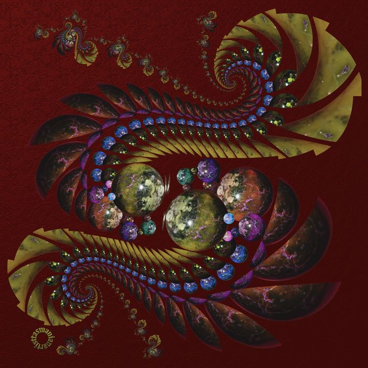 OT Fractal with Spheres 4 - tasmanianartist D1g1tal-M00dz