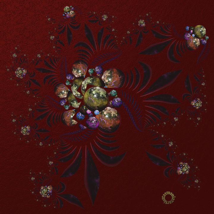 OT Fractal with Spheres 6 - tasmanianartist D1g1tal-M00dz