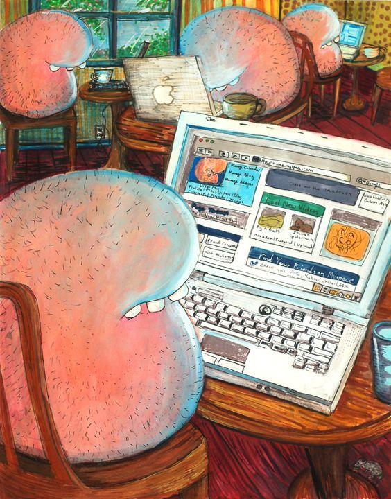 My friends are all online. - Maria Tsaguriya