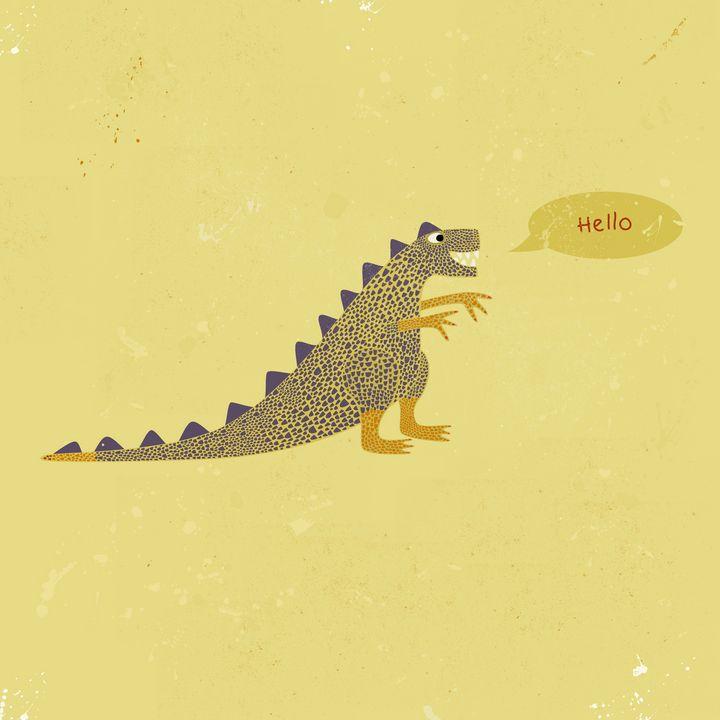 Dinosaur saying Hello - Nic Squirrell