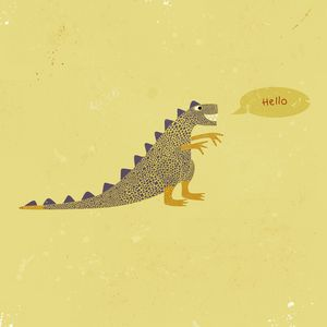 Dinosaur saying Hello - Nic Squirrell
