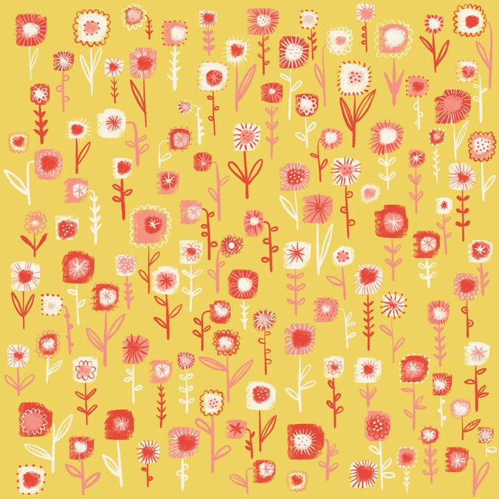 Ditsy Yellow Flowers - Nic Squirrell