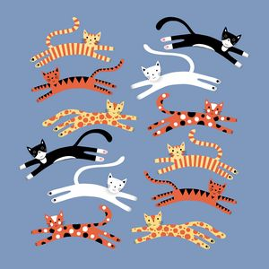 Cats Leaping - Nic Squirrell