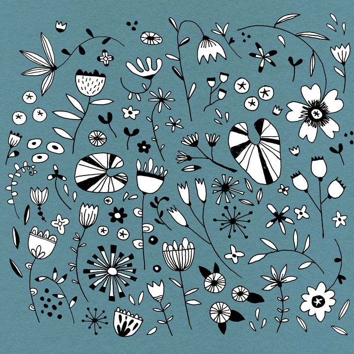 Etched Flower Drawings - Nic Squirrell