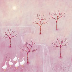 Geese in the Orchard - Nic Squirrell