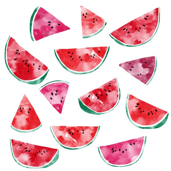 Watercolor Watermelons - Nic Squirrell