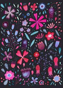 Kennington Flowers Dark - Nic Squirrell