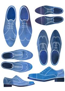 Blue Brogue Shoes - Nic Squirrell