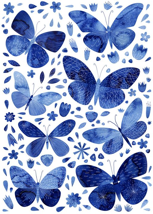Blue Butterflies - Nic Squirrell