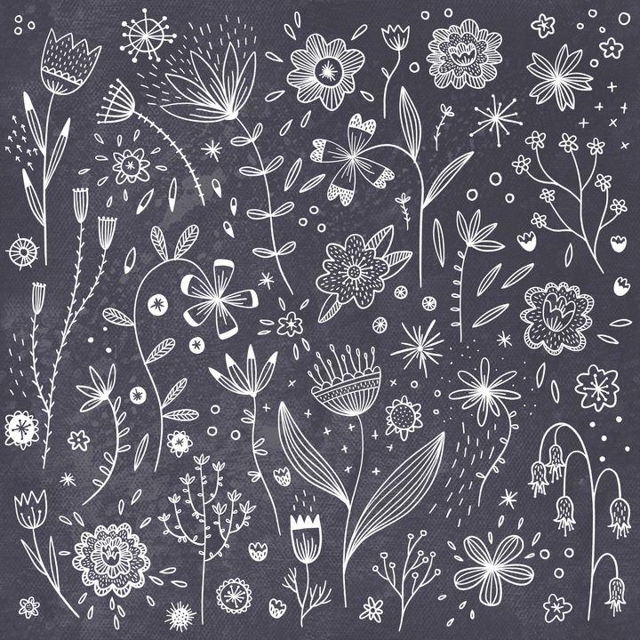 Chalkboard Flowers - Nic Squirrell
