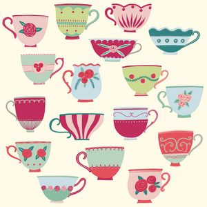 China Tea Cups - Nic Squirrell