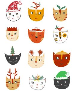 Christmas Cats - Nic Squirrell