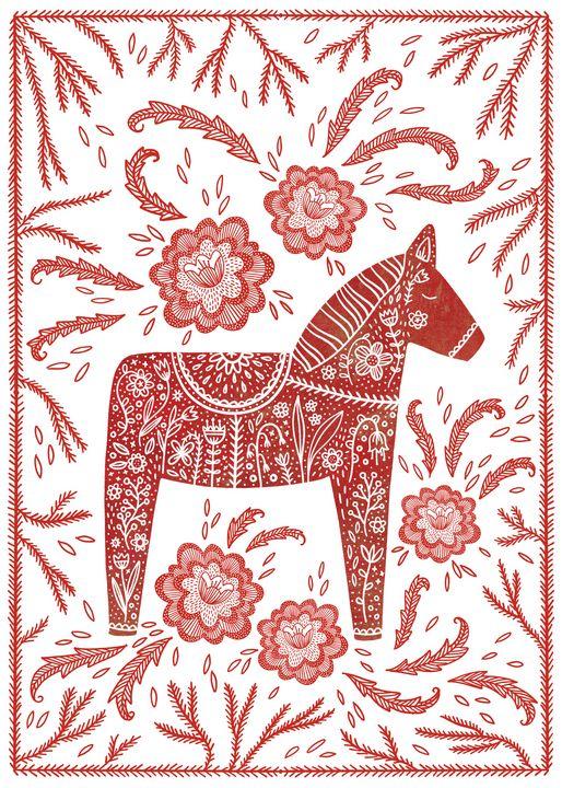 Swedish Dala Horse - Nic Squirrell