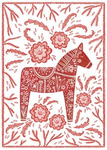 Swedish Dala Horse - Nic Squirrell