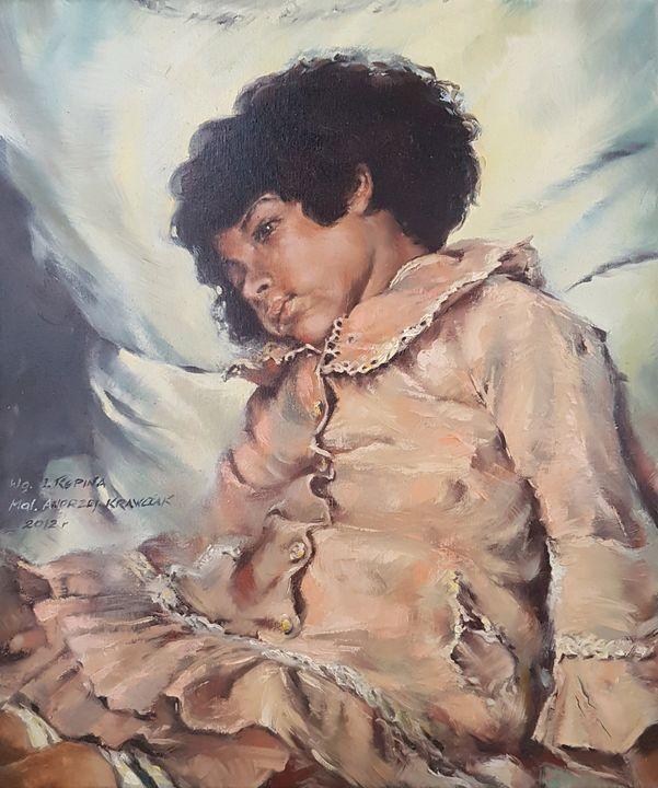 "Ilya Repin - ""Nadya Repin"" copy - Krawczak Art"