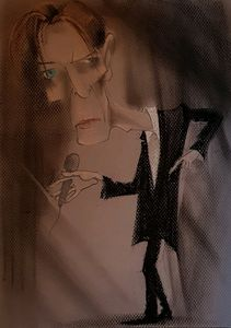 David Bowie caricature