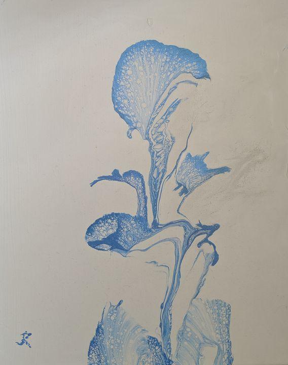 Two Chinese Women in Flower - Jack Keane Art