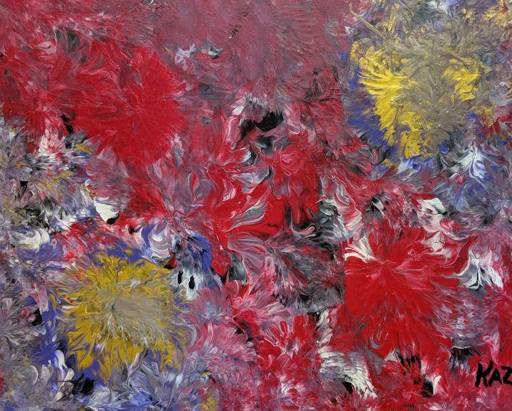 Red flowers - Jack Keane Art