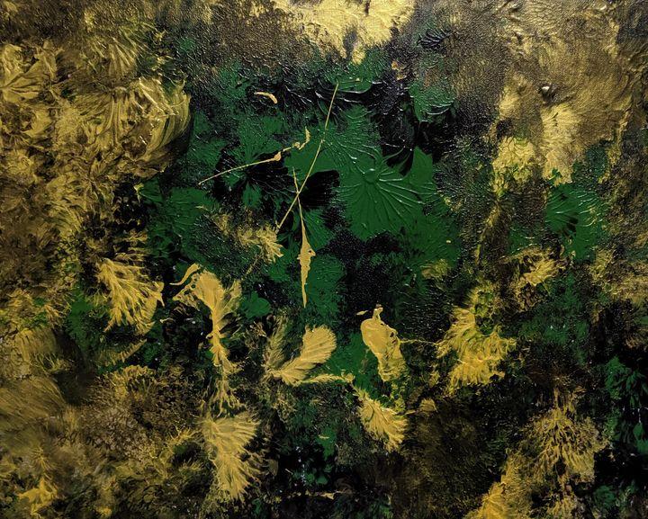 Green flowers - Jack Keane Art