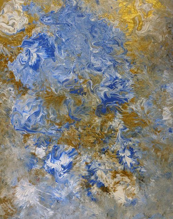 Blue flowers - Jack Keane Art