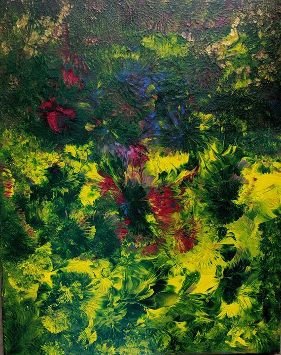 Floral eruption - Jack Keane Art