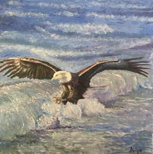 Vulture and the sea