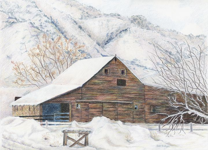 Barn in Winter - Pat Badger