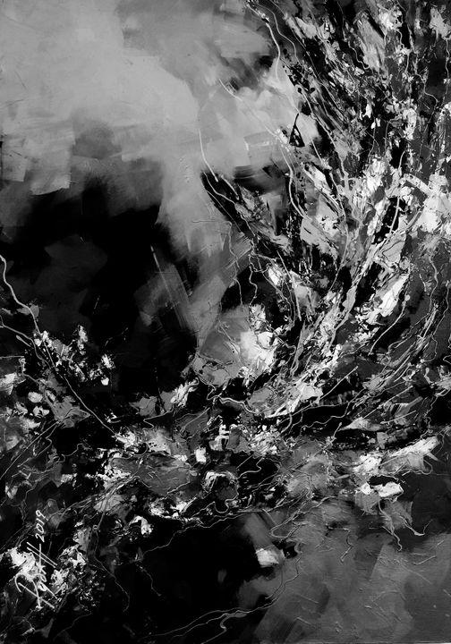 Abstraction, Black and white 1 - Stanislav Ruban