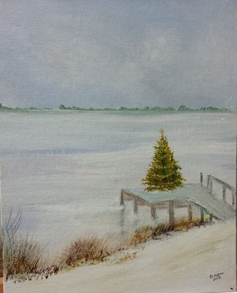 Christmas tree on dock - Douglas Harn
